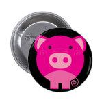 Bande dessinée ronde mignonne de porc macaron rond 5 cm