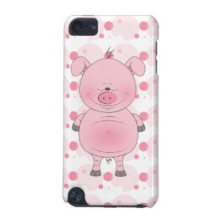 Bande dessinée rose gaie de porc coque iPod touch 5G