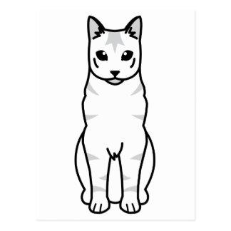 Bande dessinée russe de chat tigré carte postale