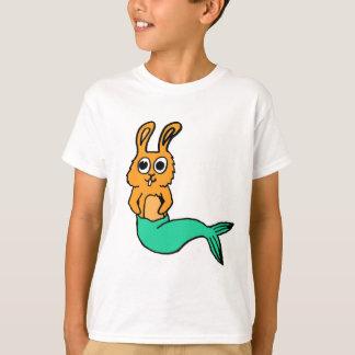 Bande dessinée tirée par la main mignonne de lapin t-shirt