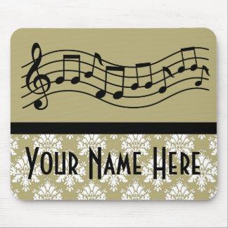 Bande ou damassé de musique personnalisée par choe tapis de souris