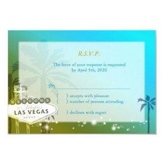 Bande tropicale de Las Vegas épousant RSVP (3.5x5) Carton D'invitation 8,89 Cm X 12,70 Cm