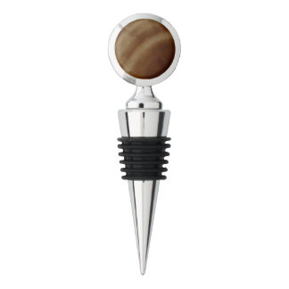 Banded Agate, Brown, Cool Nature Stone Wine Stopper