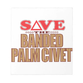 Banded Palm Civet Save Notepads