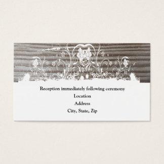 Banded Wood Reception Enclosure Cards