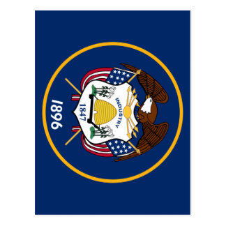 Bandeira de Utah Postcard