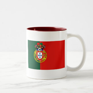 Bandeira Portuguesa Classica por Fás de Portugal Two-Tone Coffee Mug