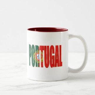 "Bandeira Portuguesa - Marca ""Portugal"" por Fãs Two-Tone Coffee Mug"