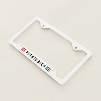 Bandera Celeste Puerto Rico Licence Plate Frame