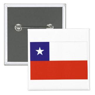 Bandera Chile V 2 Inch Square Button