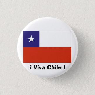 Bandera Chile VII 1 Inch Round Button