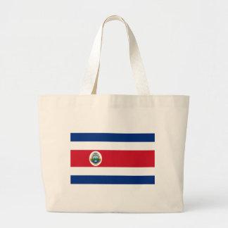 Bandera de Costa Rica - Flag of Costa Rica Large Tote Bag