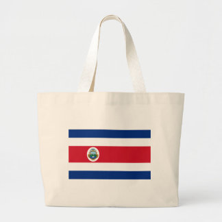 Bandera de Costa Rica - Flag of Costa Rica Large Tote Bag