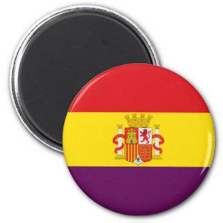 Bandera de la República Española 2 Inch Round Magnet