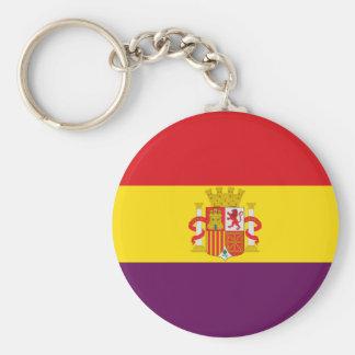 Bandera de la República Española Basic Round Button Keychain