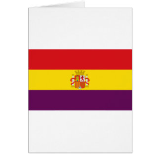 Bandera de la República Española Card