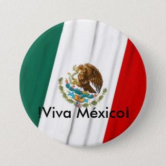 Bandera de México 3 Inch Round Button