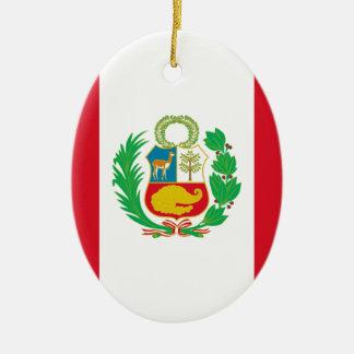 Bandera del Perú - Flag of Peru Ceramic Ornament