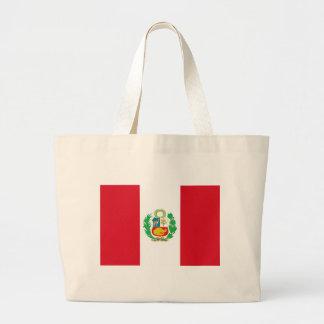 Bandera del Perú - Flag of Peru Large Tote Bag