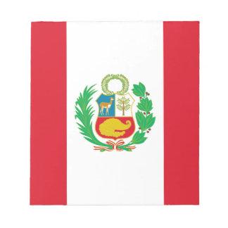 Bandera del Perú - Flag of Peru Notepad