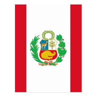 Bandera del Perú - Flag of Peru Postcard