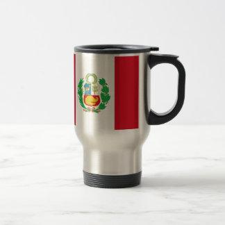 Bandera del Perú - Flag of Peru Travel Mug