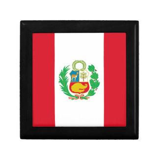 Bandera del Perú - Flag of Peru Trinket Boxes