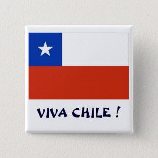 Bandera Viva Chile I 2 Inch Square Button