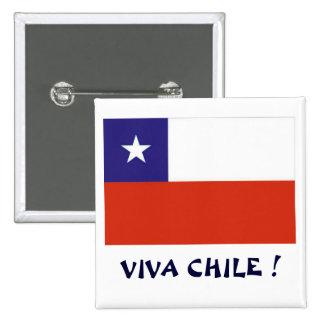 Bandera Viva Chile IV 2 Inch Square Button