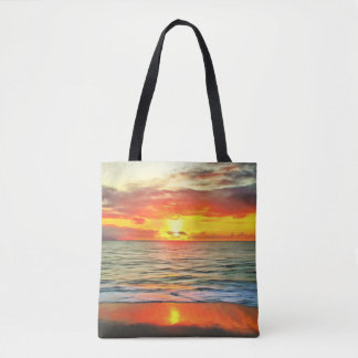 Banderas Bay Sunset 1738 Tote Bag 2 Styles & Sizes