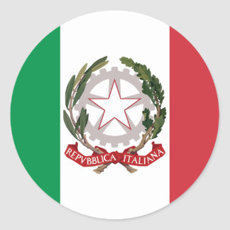 Bandiera Italiana - State Ensign of Italy Round Sticker
