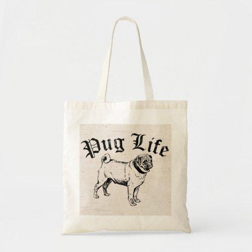 Bandit drôle de chien de la vie de carlin sac en toile