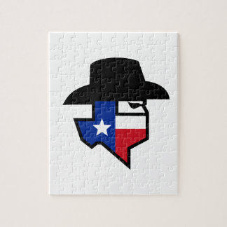 Bandit Texas Flag Icon Jigsaw Puzzle