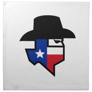 Bandit Texas Flag Icon Napkin
