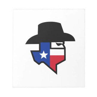 Bandit Texas Flag Icon Notepad