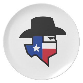 Bandit Texas Flag Icon Plate