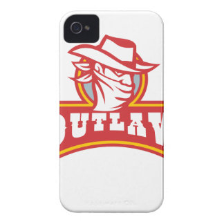 Bandit With Outlaw Text Retro iPhone 4 Case