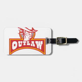 Bandit With Outlaw Text Retro Luggage Tag