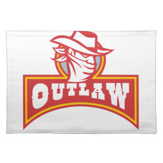 Bandit With Outlaw Text Retro Placemat