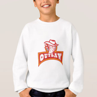 Bandit With Outlaw Text Retro Sweatshirt
