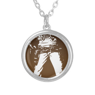 bandito silver plated necklace