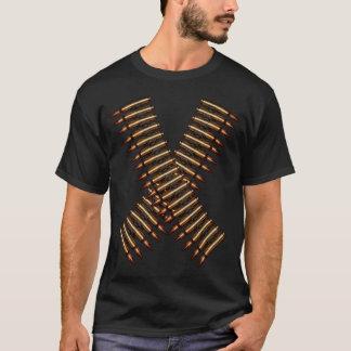 Bandolier Crossed Bullet Belts With Back Print T-Shirt