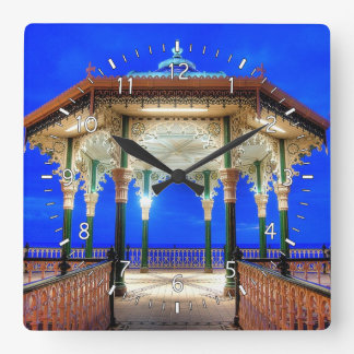 Bandstand at Twilight Square Wall Clock