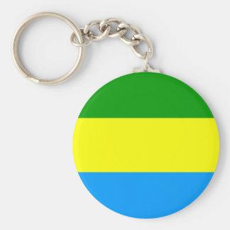 Bandung city flag indonesia symbol basic round button keychain