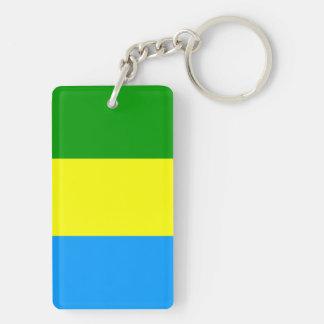 Bandung city flag indonesia symbol Double-Sided rectangular acrylic keychain