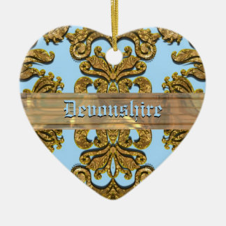 Bandwright Gigi Victorian Damask Ceramic Ornament