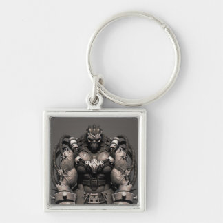 Bane Alternate Silver-Colored Square Keychain