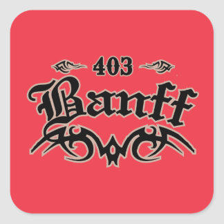 Banff 403 square sticker