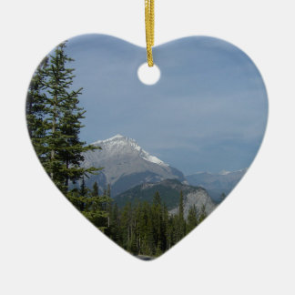 Banff Alberta Canada, Canadian National Park Ceramic Heart Ornament