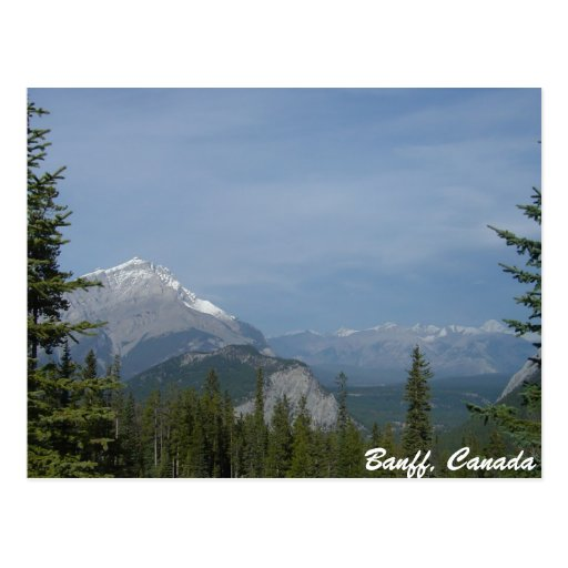 Banff Alberta Canada, Canadian National Park Post Card